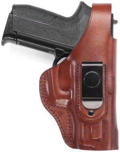 IWB leather holster with clip