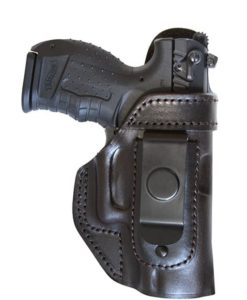 IWB leather holster with steel clip