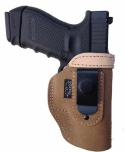 IWB suede holster