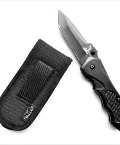 Foilding utility knife with pouch