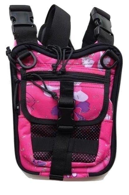 Shoulder bag for concealed gun carry Pink color