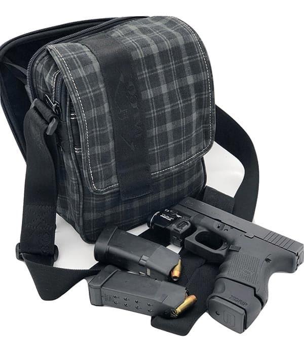 shoulder bag for gun carry