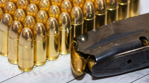 9 mm Luger ammo